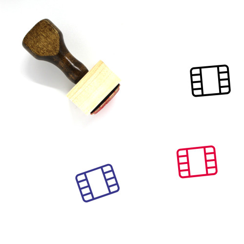 Video Reel Wooden Rubber Stamp No. 21