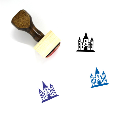 Cathedral Wooden Rubber Stamp No. 15