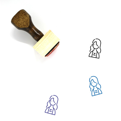 Avatar Female Wooden Rubber Stamp No. 11