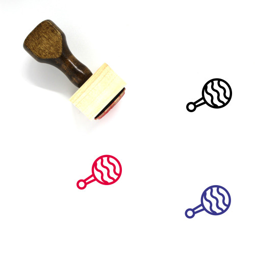 Baby Rattle Wooden Rubber Stamp No. 3