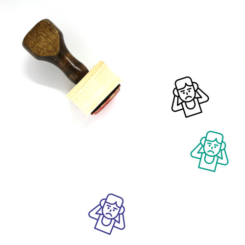 Anxiety Wooden Rubber Stamp No. 13