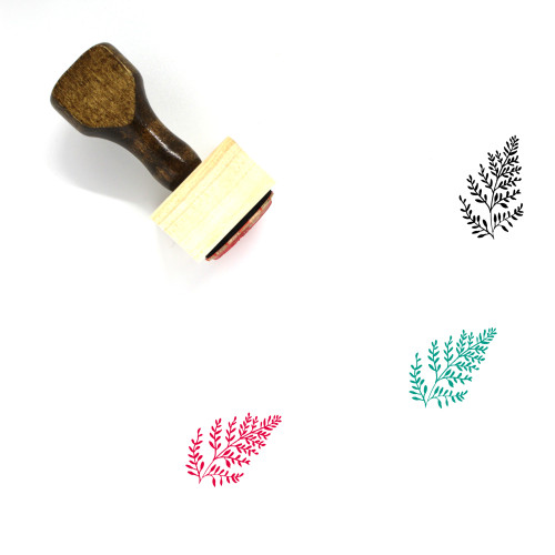 Aromatic Herbs Wooden Rubber Stamp No. 14