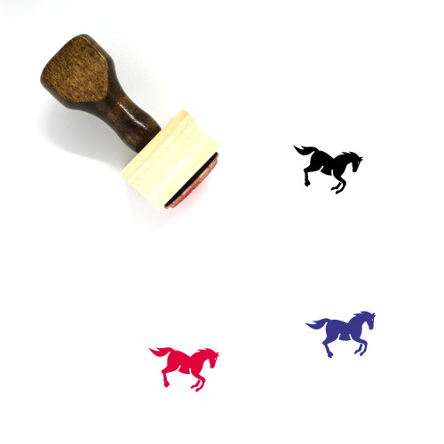 Horse Wooden Rubber Stamp No. 117