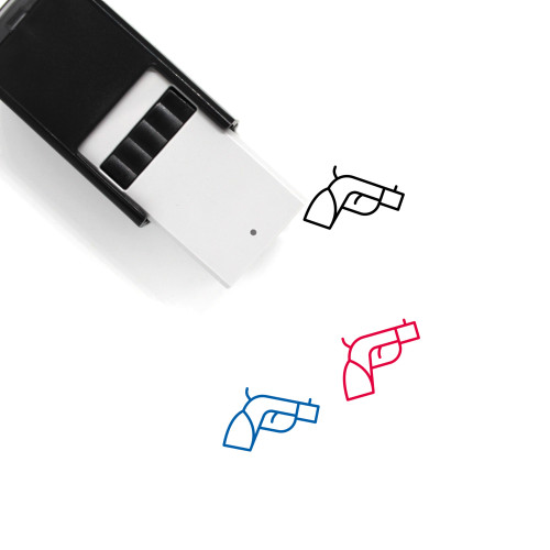 Pistol Self-Inking Rubber Stamp No. 38