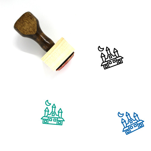 Castle Wooden Rubber Stamp No. 213