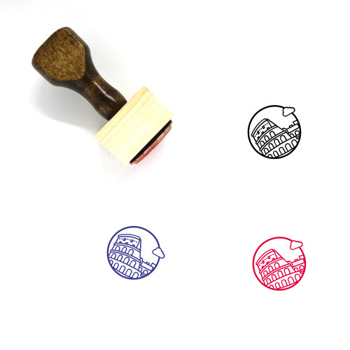 Colosseum Wooden Rubber Stamp No. 30