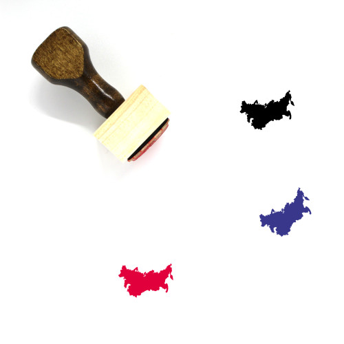 Russia Wooden Rubber Stamp No. 16