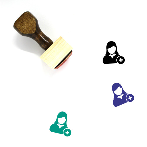 Add User Wooden Rubber Stamp No. 10