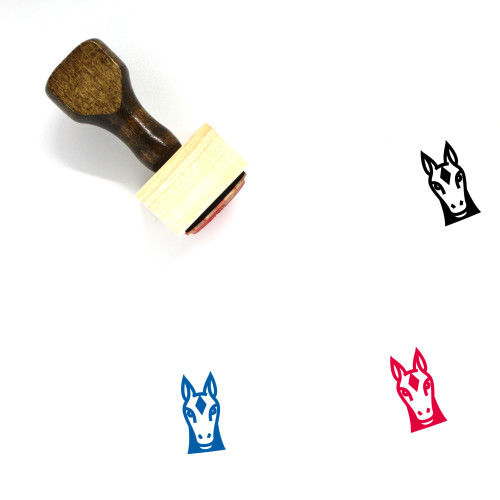 Horse Face Wooden Rubber Stamp No. 4