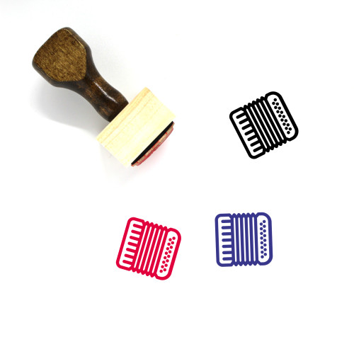 Accordion Wooden Rubber Stamp No. 5
