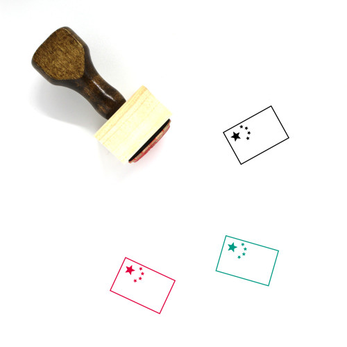 China Flag Wooden Rubber Stamp No. 5