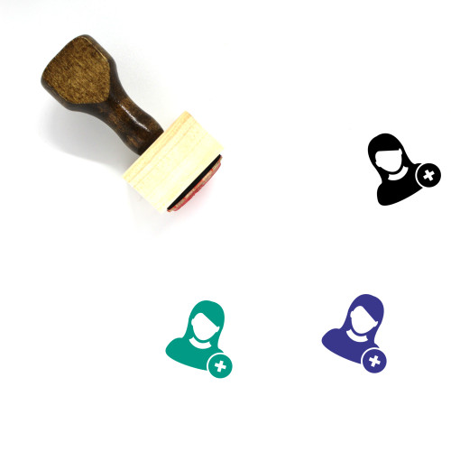 Add User Wooden Rubber Stamp No. 11