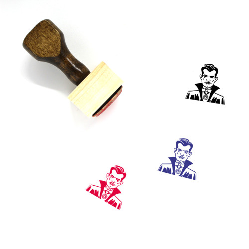 Count Wooden Rubber Stamp No. 9
