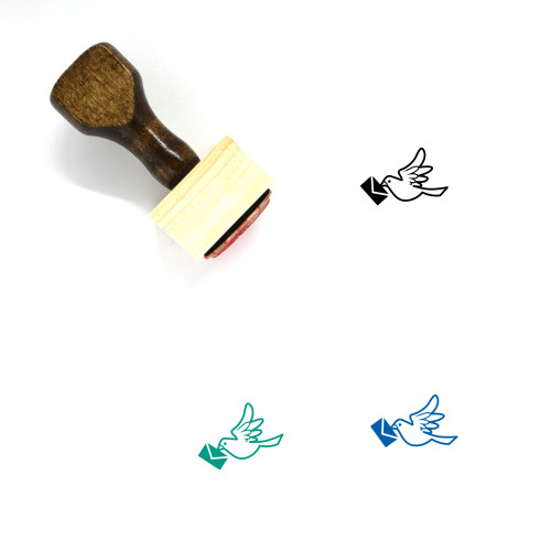 Dove Letter Wooden Rubber Stamp No. 11