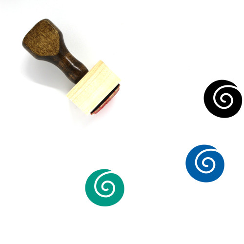 Spiral Shell Wooden Rubber Stamp No. 3