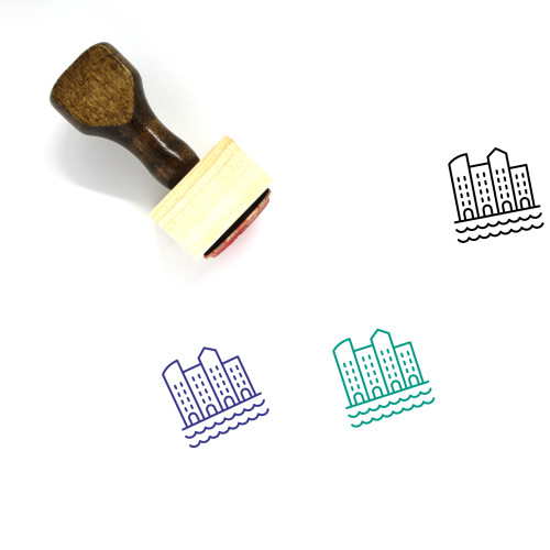Sea Town Wooden Rubber Stamp No. 1
