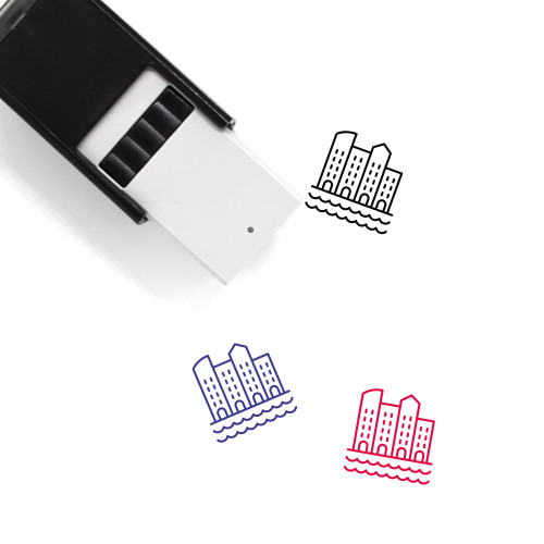 Sea Town Self-Inking Rubber Stamp No. 1