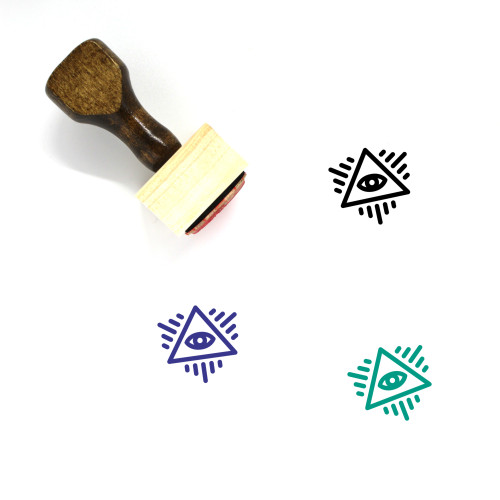 Eye Of Providence Wooden Rubber Stamp No. 24
