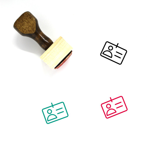 Identification Wooden Rubber Stamp No. 68