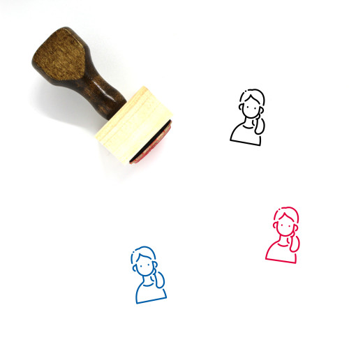 Avatar Female Wooden Rubber Stamp No. 12