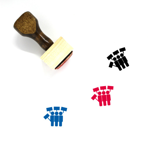 Protest Wooden Rubber Stamp No. 58