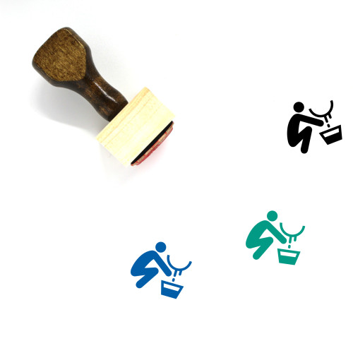 Milking Wooden Rubber Stamp No. 1