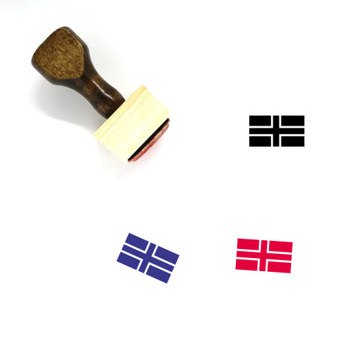 Flag Wooden Rubber Stamp No. 827