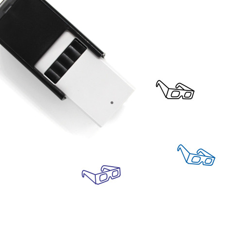 3D Glassses Self-Inking Rubber Stamp No. 1