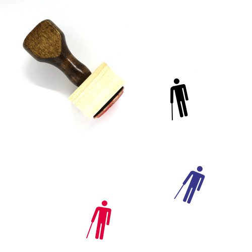Walking Cane Wooden Rubber Stamp No. 8