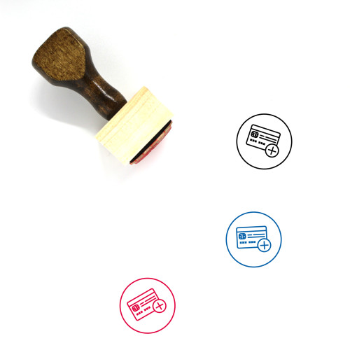 Add Card Wooden Rubber Stamp No. 2