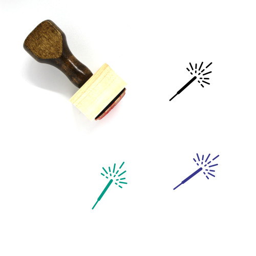 Sparkler Wooden Rubber Stamp No. 52