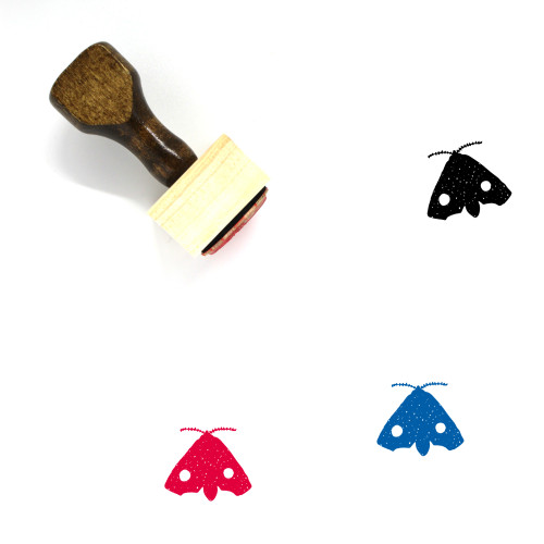 Moth Wooden Rubber Stamp No. 1