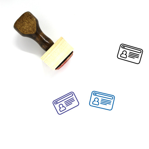 Account Wooden Rubber Stamp No. 143