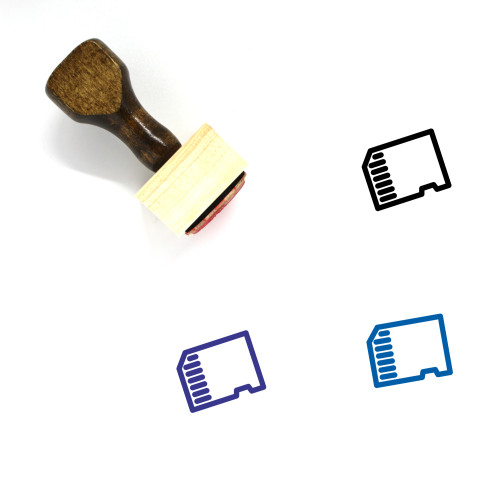 Memory Card Wooden Rubber Stamp No. 67