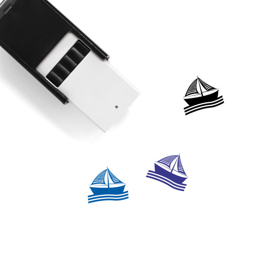 Boat Self-Inking Rubber Stamp No. 88