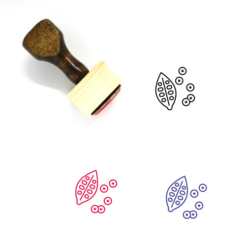 Health Food Wooden Rubber Stamp No. 2