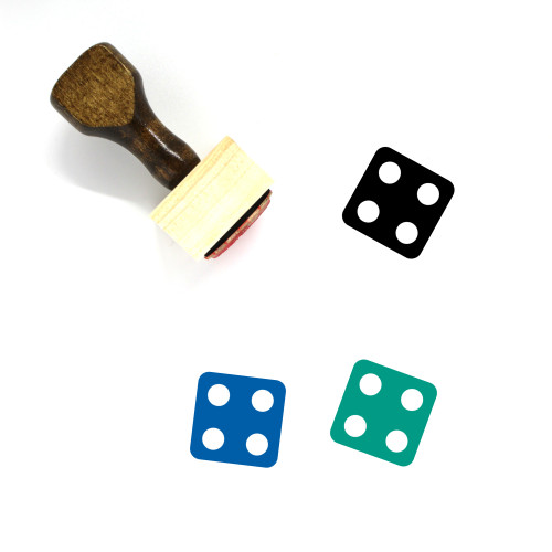 Dice Wooden Rubber Stamp No. 126
