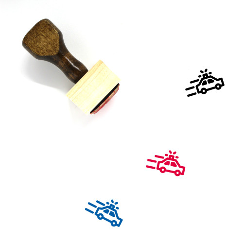 Police Wooden Rubber Stamp No. 183