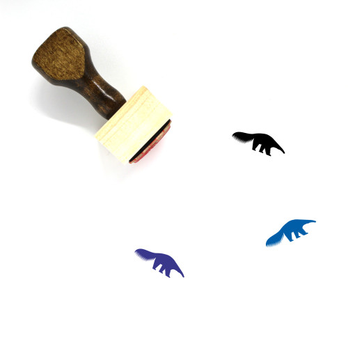 Anteater Wooden Rubber Stamp No. 2