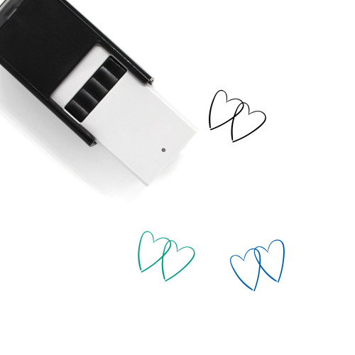 Two Hearts Self-Inking Rubber Stamp No. 17