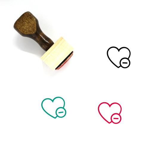 Heart Wooden Rubber Stamp No. 1451