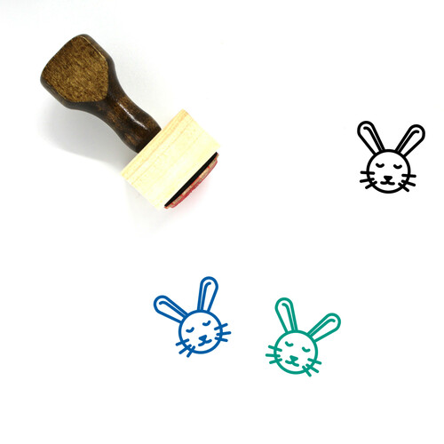 Easter Bunny Wooden Rubber Stamp No. 41