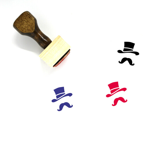 Costume Wooden Rubber Stamp No. 29