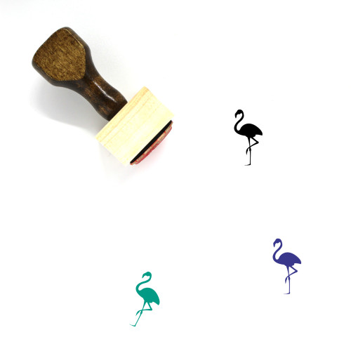 Flamingo Wooden Rubber Stamp No. 26