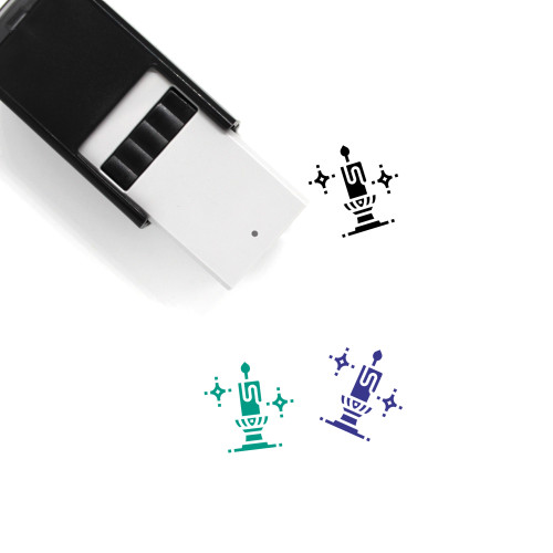 Candlestick Self-Inking Rubber Stamp No. 8
