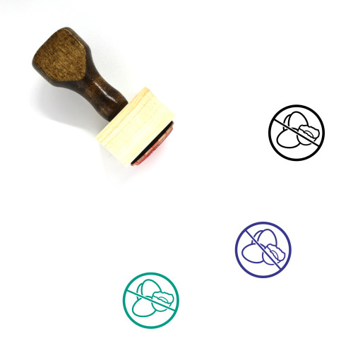No Eggs Wooden Rubber Stamp No. 2