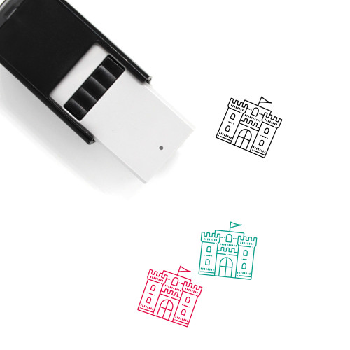 Castle Flag Self-Inking Rubber Stamp No. 1