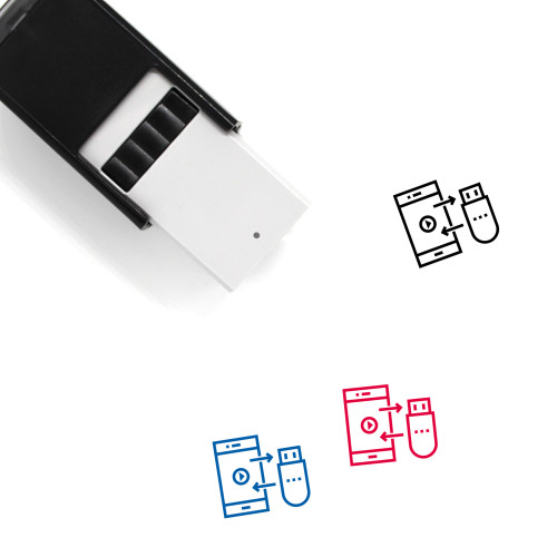 Data Transfer Self-Inking Rubber Stamp No. 11