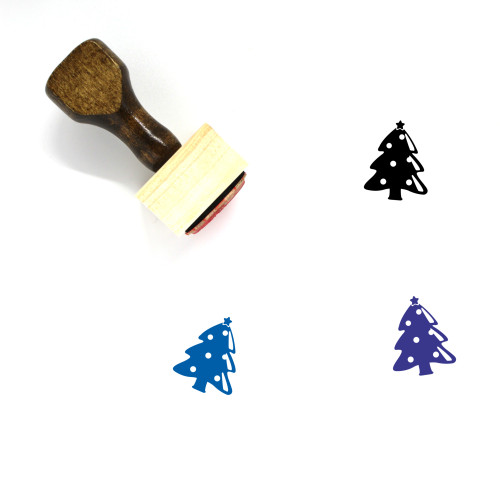 Christmas Tree Wooden Rubber Stamp No. 119