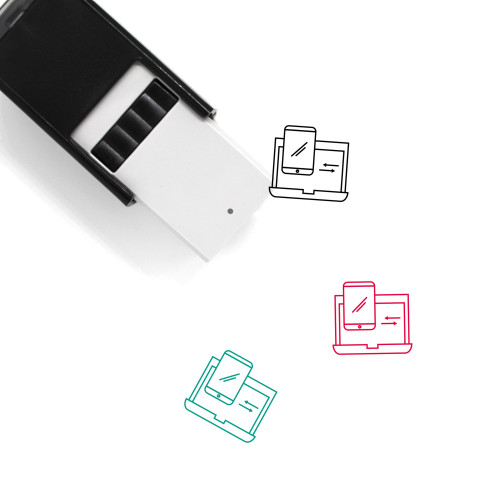 Transfer Data Self-Inking Rubber Stamp No. 15